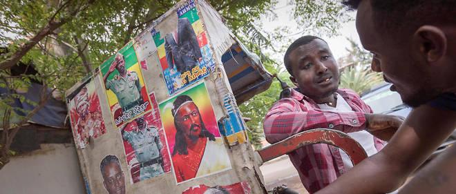 Des portraits de grandes figures amarhas, le portrait du Premier ministre à Bahir Dar (capitale de la région Amarha) a été arraché.