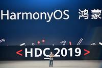 Richard Yu, le patron de Huawei, a présenté hier à Dongguan le nouveau système d'exploitation du géant chinois. Une alternative à Android, visant à contrer les représailles américaines.