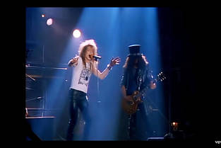 """Le clip """"Welcome to the Jungle"""" des Guns N' Roses."""