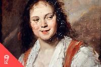 «La Bohémienne». Peinture de Frans Hals l'ancien (1581/1585-1666) vers 1626. Dim: 0,58 x 0,52m – Paris, musée du Louvre.