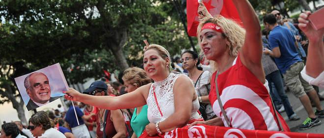 Des Tunisiennes lors de la Journée nationale de la femme en août 2018.