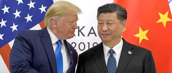 Donald Trump et Xi Jinping lors d'une réunion bilatérale lors du G20 d'Osaka le 29 juin 2019.