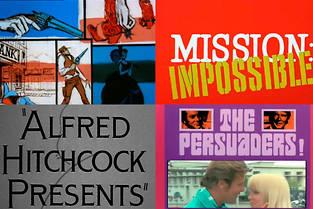 """Les generiques des """"Mysteres de l'Ouest"""", de """"Mission Impossible"""", d'""""Alfred Hitchcock presente"""" et d'""""Amicalement votre""""."""