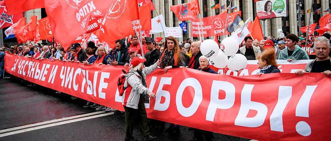 De nouvelles manifestations se tiennent à Moscou, ce samedi. Un mouvement qui fait suite à l'exclusion de candidats indépendants aux élections locales du 8 septembre. (Illustration)