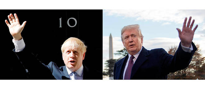 Boris Johnson et Donald Trump.