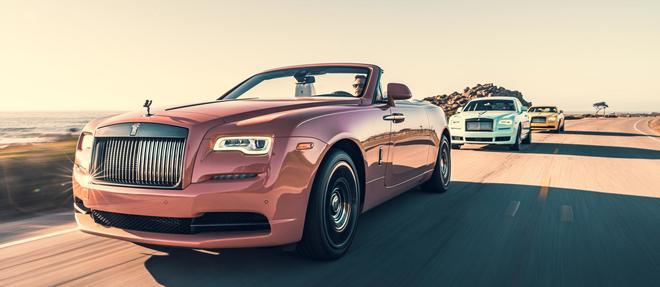Rolls Royce à Peeble Beach ose les couleurs
