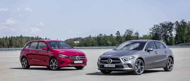 Mercedes poursuit l'électrification de sa gamme avec les versions 250 e EQ Power des Classe A et Classe B.