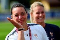 Corinne Diacre lors du Mondial féminin de football.