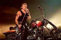 Johnny en concert à Bercy le 15 septembre 1992.