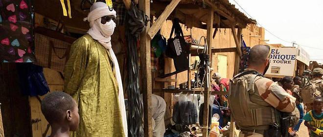 La situation est toujours tendue dans le Sahel. Ici, dans le marché de Menaka, dans le nord-est du Mali près de la frontière avec le Niger, le 27 juin.