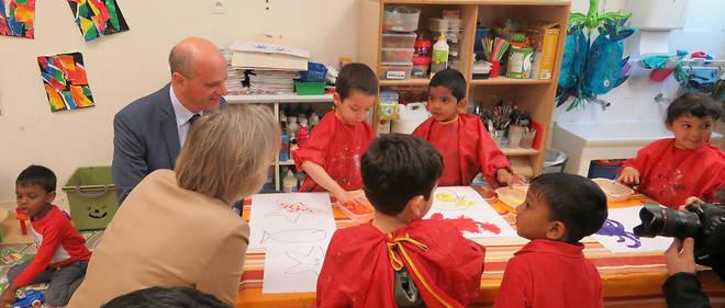 Le ministre de l'Éducation nationale en déplacement pour des annonces en faveur de l'école inclusive le 11 juin dernier.