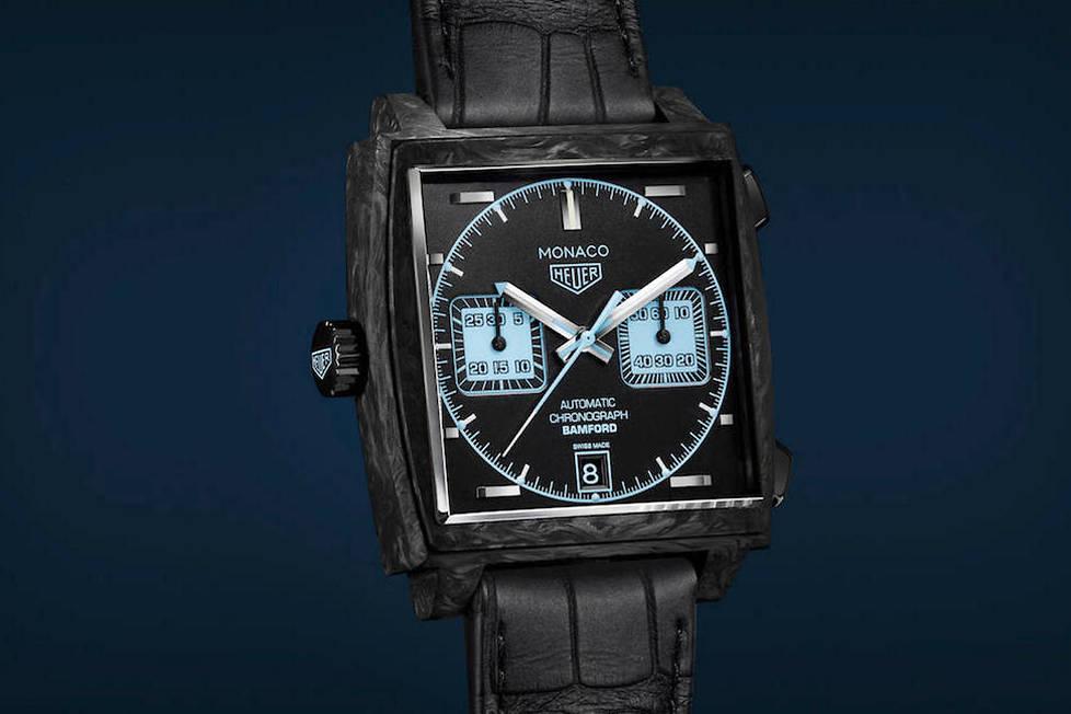 <p><strong>Monaco x Bamford.</strong> Une édition limitée à 500 exemplaires pour cette audacieuse collaborationentre TAG Heuer et Bamford Watch Department.</p> <p></p>
