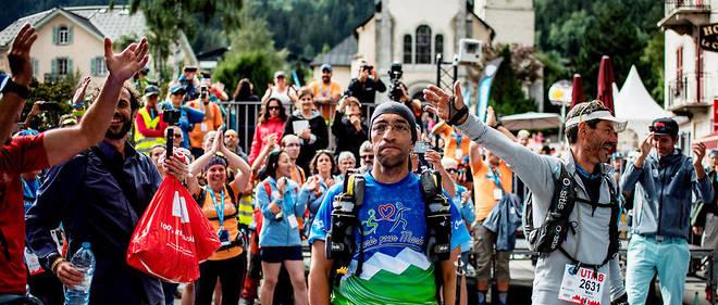Le dernier finisher du dernier ultra-trail du Mont-Blanc de l'année dernière.