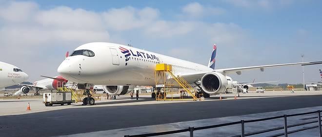 Le vol quotidien Roissy-CDG-São Paulo de LATAM est assuré par un Airbus A350 tout neuf.