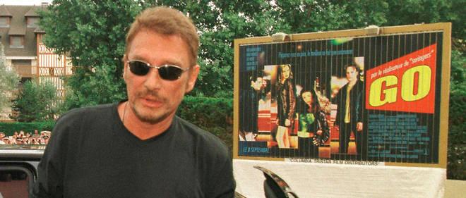 Le chanteur Johnny Hallyday arrive le 7 septembre 1999 à l'hôtel Royal de Deauville, pour assister au 25e festival du cinéma américain.