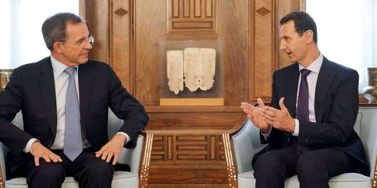 """Selon l'eurodéputé RN Mariani, Assad veut """"dialoguer"""" avec la France - Le  Point"""