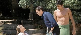Les deux hommes, Delon et Ronet, luttent pour Romy Schneider.