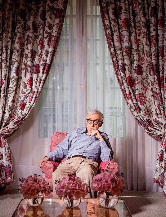 Serein. Woody Allen dans un palace parisien, le 26août.
