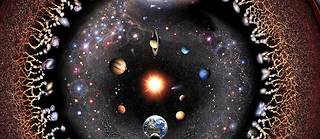 Fragment de représentation de l'Univers par l'artiste argentin Pablo Carlos Budassi.