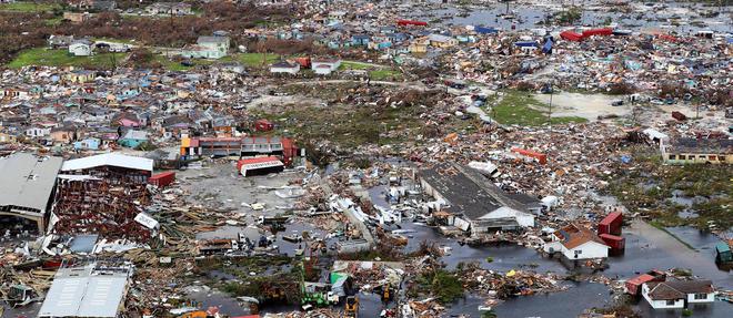 Sur l'île de Great Abaco, dans le nord des Bahamas, après le passage de l'ouragan Dorian.