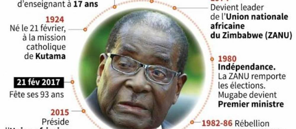 Robert Mugabe : sa vie résumée dans cette carte. ©   AFP / Jean Michel Cornu