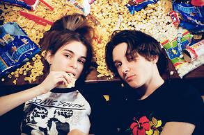 Adèle Castillon et Matthieu Reynaud du groupe Videoclub.