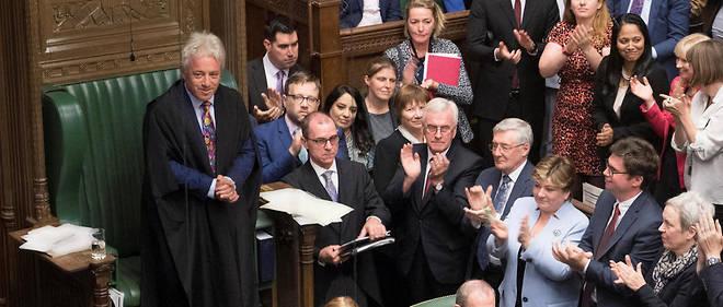 John Bercow, acclamé par les députés.