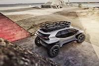 Muni de sa galerie de toit, l'Audi AI:Trail Quattro semble déterminé à affronter toutes les aventures.