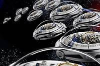 La montre Deep Space de Vianney Halter, comme une escadrille d'ovnis horlogers fondant sur la Terre.