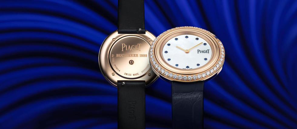 <p>Fidèle à sa collection de créations horlogères bleues, Bucherer dévoile un modèle exclusif du modèle Possession de Piaget, en or rose et serti de diamants.</p> <p></p> <p></p>