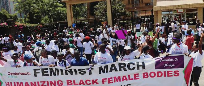 La «Feminist March» du 8 mars 2019 à Nairobi.
