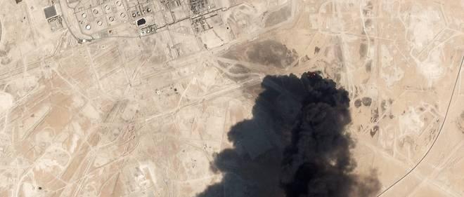 Photo satellite de l'installation pétrolière d'Abqaïq, en Arabie saoudite, après les frappes du 14 septembre 2019.
