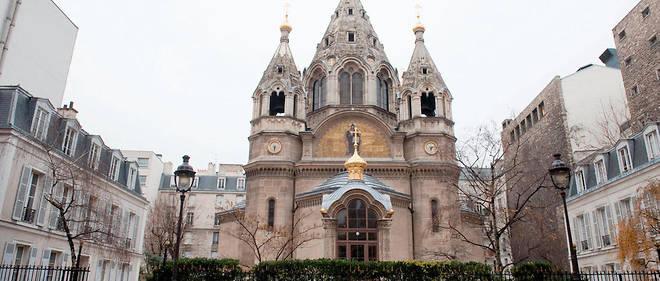 Cathédrale russe orthodoxe Saint-Alexandre-Nevski, rue Daru à Paris.