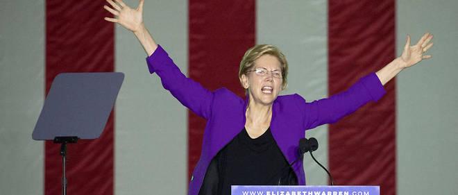 La sénatrice du Massachusetts tenait lundi soir son premier meeting de campagne à New York, se taillant un franc succès dans ce bastion démocrate.