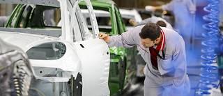 L'usine de Porsche à Leipzig en décembre 2018. L'essor de la voiture électrique va surtout profiter à l'Asie qui produit l'essentiel des batteries.