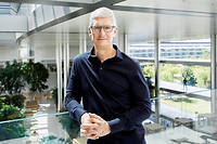 Tim Cook, PDG d'Apple, presentait, le 10 septembre, a Cupertino, l'iPhone 11.