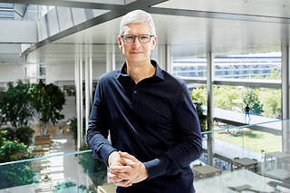 Tim Cook, PDG d'Apple, présentait, le 10 septembre, à Cupertino, l'iPhone 11.