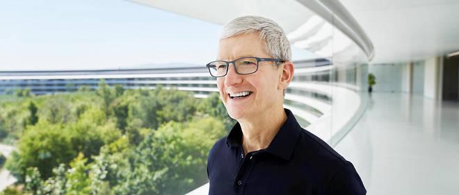 Tim Cook au siège d'Apple.