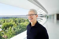 Tim Cook au siege d'Apple.