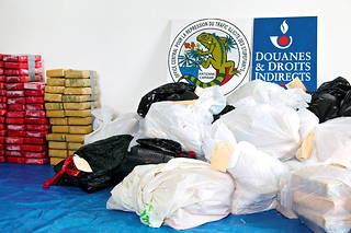 Une saisie de l'Office central de répression du trafic illicite de stupéfiants (OCRTIS).