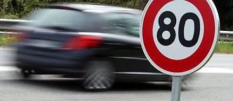 80 km/h, les automobilistes émettent la présomption d'une étude orientée par la Sécurité Routière