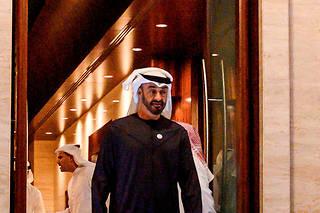 Mohammed ben Zayed au palais Al-Shati àAbou Dhabi, capitale des Emirats arabes unis, le12janvier.  ©ANDREW CABALLERO-REYNOLDS