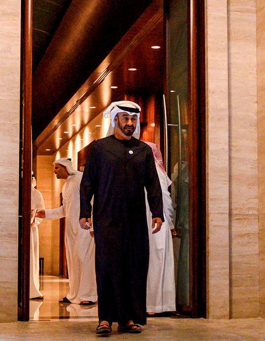 Souverain. Le prince héritier Mohammed ben Zayed au palais Al-Shati àAbou Dhabi, capitale des Emirats arabes unis, le12janvier.