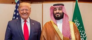 Le président américain Donald Trump et le prince héritier d'Arabie saoudite Mohammed ben Salmane en juin 2019 au G20, à Osaka.