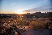 A Phoenix, en Arizona, les temperatures ont parfois atteint les 50 degres cet ete et le thermometre, encore 38 degres a l'ombre fin septembre 2019.
