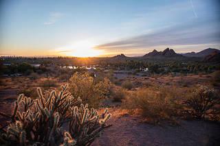 À Phoenix, en Arizona,les températures ont parfois atteint les 50 degrés cet été et le thermomètre, encore 38 degrés à l'ombre fin septembre 2019.