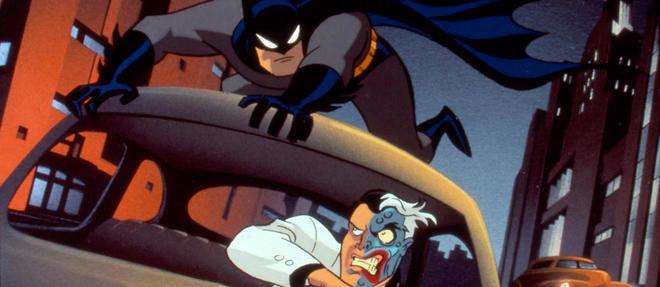 Batman aux prises avec le terrible Double-Face.