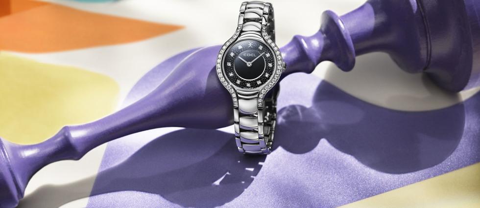 <p>Chaque modèle conserve le sertissage originel de la montre Beluga, composé de 40pierres entourant le cadran.</p>
