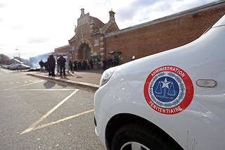 La maison d'arrêt de Douai, le 11 mars 2019, lors d'un blocage de la prison organisé par les surveillants pénitentiaires qui réclament de meilleures conditions de travail (Photo d'illustration).