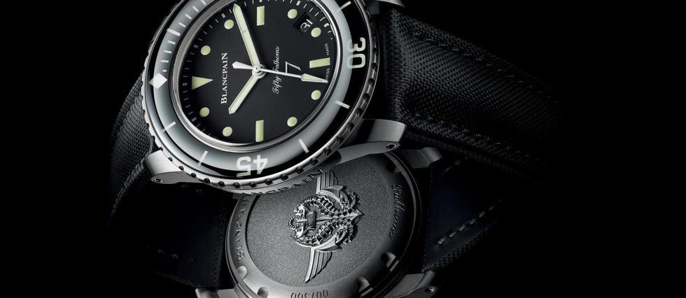<p>Créée dans les années 1950, la Fifty Fathoms est la première montre de plongée moderne. Elle refait surface et rend hommage aux nageurs de combat français. </p> <p></p> <p></p>